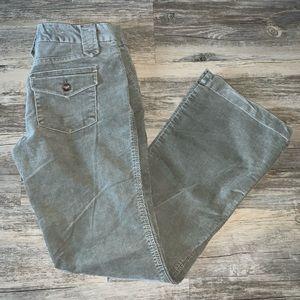 NWOT/GAP GREY BOOTCUT CORDUROY PANTS SZ: 2